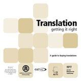 "SFT Brochure ""Translation: Getting it Right"""