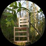 Grünholzstuhl entsteht aus Eschenzweig