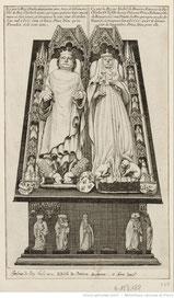 Tombeau de Charles VI et Isabeau de Bavière. (Source : Gallica-BNF)