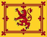 """Die Flagge des schottischen Königs (""""Lion Rampant"""")"""