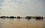 Schwimmende Dörfer auf dem Tonle Sap See