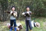 竹の子掘り体験