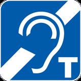 Logo oreille barrée avec un T