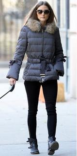 Olivia Palermo puffa jacket