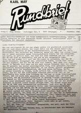 Rundbrief vom Dezember 1985 (zweite Ausgabe)
