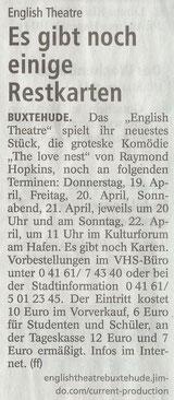 Buxtehude Tageblatt, 19.4.2018