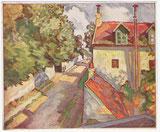 vue de Montfermeil France huile sur toile André Aaron Blils