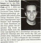 Cronenberger Anzeiger Bericht vom 27.01.2004
