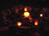 Singheilkreis feiert um die Mitte der Venusblume