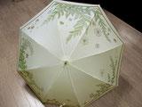 穏やかな海の中の日傘   (きなり色・ドット柄布付き)
