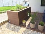 Bambus WPC Dielen Diamantnuss Terrasse Hochbeet