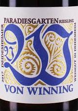 Dr. Bassermann-Jordan,  von Winning, Christmann, der Deidesheimer Winzerverein oder Reichsrat von Buhl ... - Weingüter von Rang und Namen pflegen im Paradiesgarten ihre Reben, die meist  Rieslingtrauben tragen und hier zur Vollendung reifen.