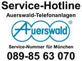 Auerswald Center München: Auerswald Service-Hotline: 089.85 63 07.0