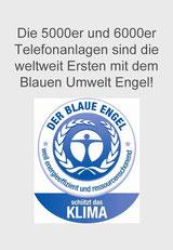 Auerswald Center München: Blauer (Umwelt-) Engel für aktuelle Auerswald Telefonanlagen