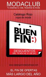 catalogo (rojo) de ofertas el buen fin 2013 - moda club