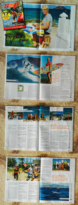 Homestory of Sonni Hönscheid in the new German SUP Magazine