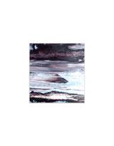 Un petit espace de temps, peinture sur papier par Annie Baratz artiste peintre plasticienne