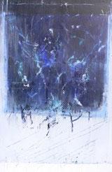 Blaue Öffnung, Mischtechnik auf Leinwand, 75 x 100 cm, 2006