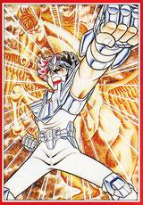 Seiya, en la etapa inicial de planificación, era hijo del dueño de un dojo de karate, lo que daba una fuerte imagen deportiva.