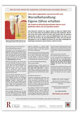 Merkblatt Wurzelbehandlung Zahnarzt Frankfurt-Niederrad