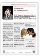Merkblatt Hilfe gegen Mundgeruch Zahnarzt Frankfurt-Niederrad