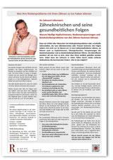 Patienteninfo Zähneknirschen Bruxismus CMD Zahnarzt Frankfurt Niederrad