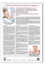 Merkblatt Gesunde Kinderzähne Zahnarzt Frankfurt Niederrad