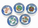 九谷焼通販 おしゃれな小皿 皿揃え 九谷歴代画 3.3寸