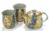 九谷焼 茶器3点セット 小サイズ