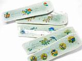 九谷焼 焼き魚用 長皿 裏絵