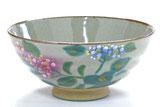 九谷焼『飯碗』大 がく紫陽花 裏絵