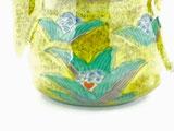 九谷焼【ティーポット・急須】小 吉田屋木米ツートンカラー【裏絵】