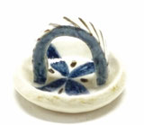 九谷焼 箸置き 染付け小花