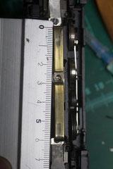 Länge: so etwa 6cm. Das Phosporbronzestück sollte die gleiche Breite wie der Schleifer aufweisen aber 1cm länger sein.  Also wäre das benötigte Stück 0,5cm x 7cm lang.