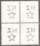 'Single' watermark (W7) as found on the smaller size stamps.Not always as well centred as this example.