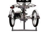 Rollatoraufhängung an Dreirädern von Van Raam Beratung, Probefahrt und kaufen im Oberallgäu