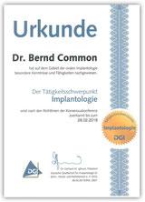 DGI Implantologie Urkunde