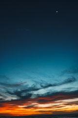Sonnenuntergang vom Strand aus