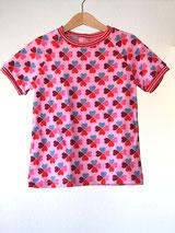 Lumpenprinzessin T-Shirt Glücksklee rosa Hamburger Liebe Stoff Handarbeit Genähtes