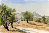 Sonnige Landschaft in der Provence