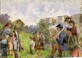 Maler mit Zuschauer
