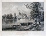 Thun, Schloss und Kirche um 1860