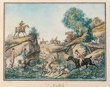 Jagdszene um 1830