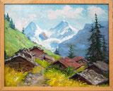 Gimmelwald mit Eiger und Mönch