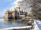 Hiver au Chateau de Chillon