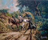 Der Botenwagen nach Original von Rudolf Koller