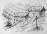 Alphütten Kühmatt Lötschental