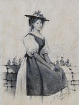 Trachtenfrau VD anno 1900