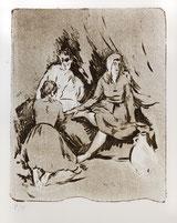 Drei Frauen am Bett