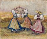 Tanzende Trachtenfrauen